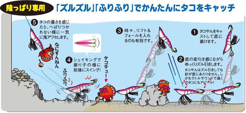 タコエギ 釣り方