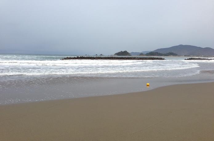 エギング 砂浜